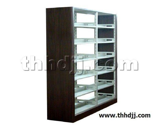 点击查看商品:高档六层双面双柱钢木书架